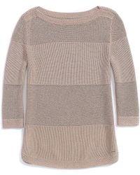 Tommy Hilfiger Mixed Stitch Open Knit Sweater - Lyst