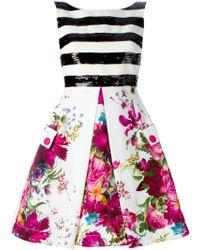 Isola Marras - Flower Print Striped Dress - Lyst
