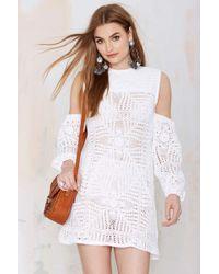 Nasty Gal Nightwalker The Renaissance Crochet Dress white - Lyst