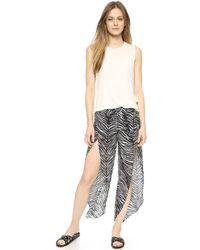 Haute Hippie New Zebra Harem Pants - Blackswan - Lyst