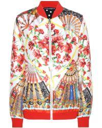 Dolce & Gabbana Silk Bomber Jacket - Lyst