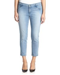 James Jeans Cropped Legging Jeans blue - Lyst