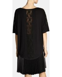 Karen Millen Batwing Lace Tshirt - Lyst