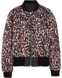 McQ by Alexander McQueen Reversible Leopardprint Shell Bomber Jacket - Lyst
