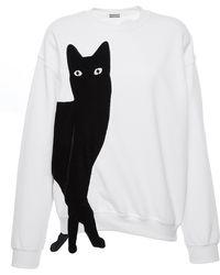 Alexis Mabille White Cat Sweatshirt - Black