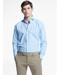 Mango Man Classic-Fit Tailored Cotton Shirt - Lyst