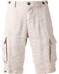 Brunello Cucinelli Cargo Shorts - Natural