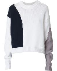 Tibi | Intarsia Drop Shoulder Cozy Pullover | Lyst