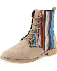 TOMS Alboot Striped Ankle Boot - Lyst