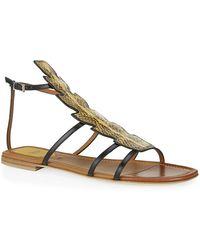 Fendi Ava Snake Sandal - Lyst