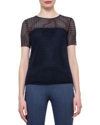 Akris Punto   Short-sleeve Grid Lace Top   Lyst