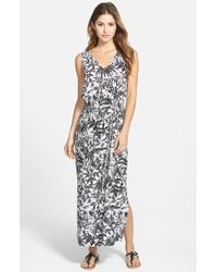 Two By Vince Camuto Jungle Print Sleeveless Maxi Dress - Lyst