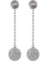 Michael Kors Brilliance Pave Disc Drop Earrings - Lyst