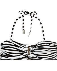 Zimmermann Striped Bandeau Bikini Top - Lyst