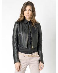 Patrizia Pepe Short Jacket In Lamb Nappa Leather - Lyst