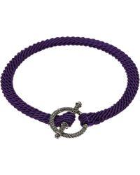 Ruby Kovo - Purple Black Diamond Toggle Bracelet - Lyst