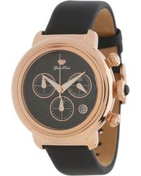 Glam Rock - 40mm Rose Gold Plated Chronograph Watch with Black Technosilk Strap - Lyst