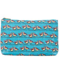 Ollie & Nic - Blue Large Bird Print Cosmetic Bag - Lyst