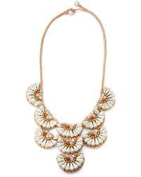 Panacea Woven Stone Bib Necklace - Lyst