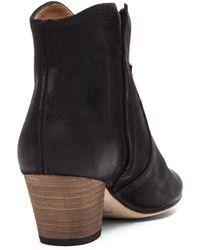 Isabel Marant Dicker Velvet Boot in Black - Lyst