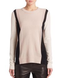 Vince Cashmere Colorblock Sweater - Lyst
