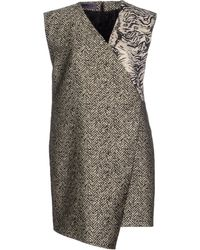Emanuel Ungaro Short Dress gray - Lyst
