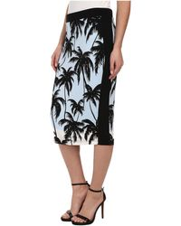 Vince Camuto Palm Horizon Pencil Skirt W/ Solid Trim - Lyst
