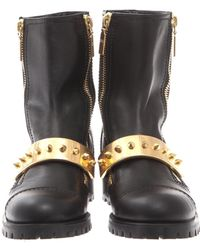 Alexander McQueen Stud Cutout Leather Sandal Boots - Lyst