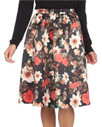 Cece by Cynthia Steffe - Majestic Floral-print Full Skirt - Lyst