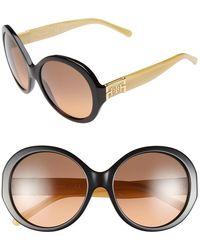 Tory Burch 56Mm Round Sunglasses - Lyst