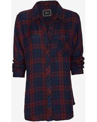 Rails Exclusive Hunter Plaid Shirt Burgundy - Lyst