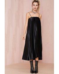 Nasty Gal Shape Shifter Pleated Dress - Lyst