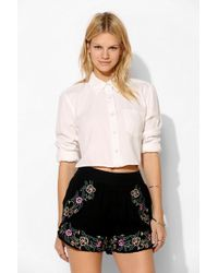 Pins And Needles - Embroidered Tulip Short - Lyst