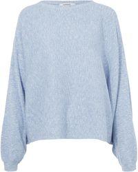 Rodebjer - Light Blue Oversized Cotton Knitted Dalia Jumper - Lyst