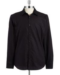 Calvin Klein Textured Sport Shirt - Lyst