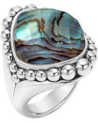 Lagos | 'maya' Stone Ring - Abalone | Lyst