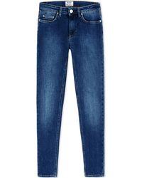 Acne Studios Denim Trousers blue - Lyst