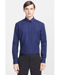 Lanvin Men'S Extra Trim Fit Mixed Gingham Dress Shirt - Lyst