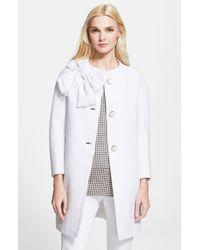 Kate Spade Women'S 'Dorothy' Cotton Tweed Coat - Lyst