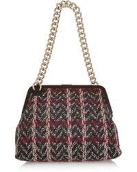 Victoria Beckham - Heritage Medium Bouclé Wooltweed Shoulder Bag - Lyst