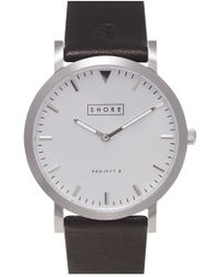 Shore Projects - 'cowes' Leather Strap Watch - Lyst