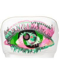 Manish Arora Eye Patchwork Bandeau Top white - Lyst