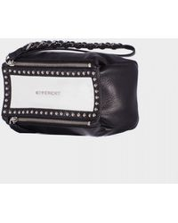 Givenchy White And Black Pandora Clutch Wrist - Lyst