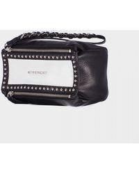 Givenchy White And Black Pandora Clutch Wrist black - Lyst