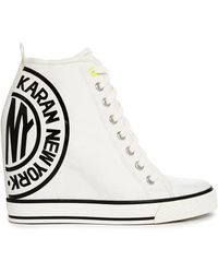 DKNY Active - Grommet Canvas White Trainers - Lyst