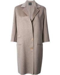 Agnona Classic Single Breasted Coat - Lyst