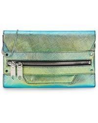 Milly Avril Saffiano Leather Clutch - Lyst