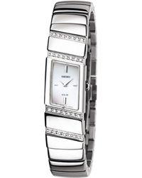 Seiko Women'S Solar Stainless Steel Bracelet 16Mm Sup167 - Lyst