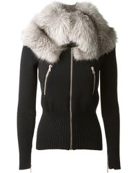 Alexander McQueen Black Wool Cardigan - Lyst