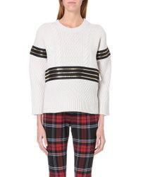 Jean Paul Gaultier Zip Detail Wool and Cashmere Blend Jumper - Lyst